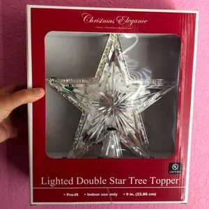 Lighted double tree topper